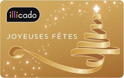 carte cadeau joyeuses fêtes dorée