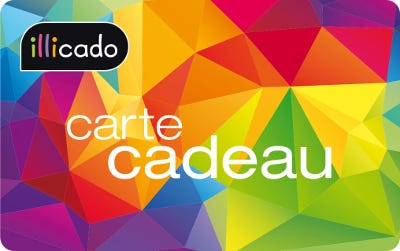 carte cadeau multicolore